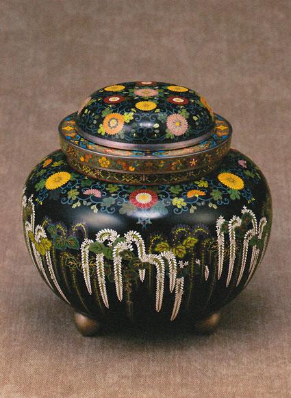 「花文飾り壷」高12.0cm