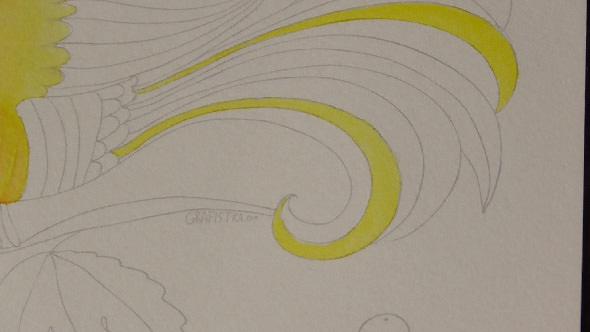 水彩筆ペンの使い方1①単色の塗り方1−3-1