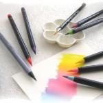 水彩を簡単に楽しめる、水彩筆ペンの使い方 準備編