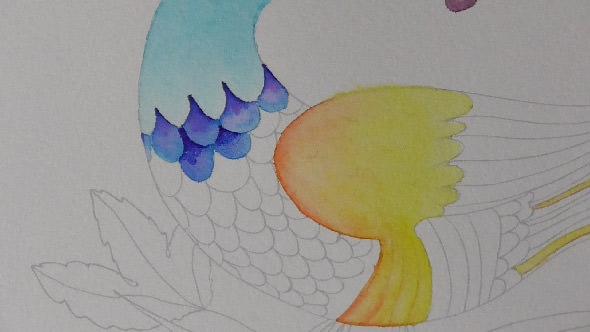 水彩筆ペンの使い方1④単色グラデーションの塗り方2−3-1