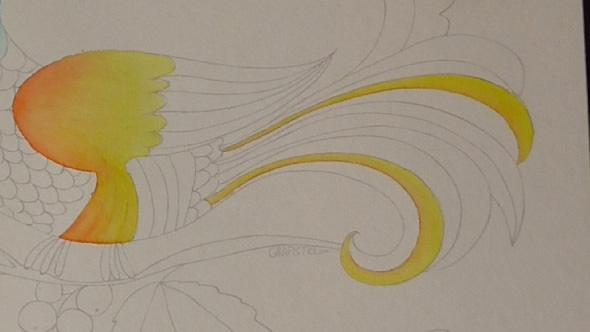 水彩筆ペンの使い方2②色の重ね方−5-1