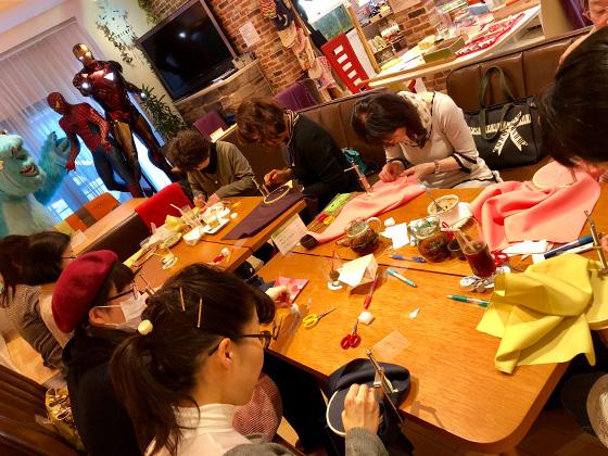 日本刺繍ワークショップ1