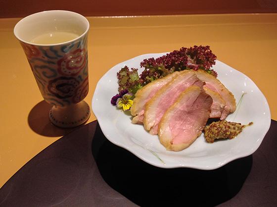 日本酒と鴨