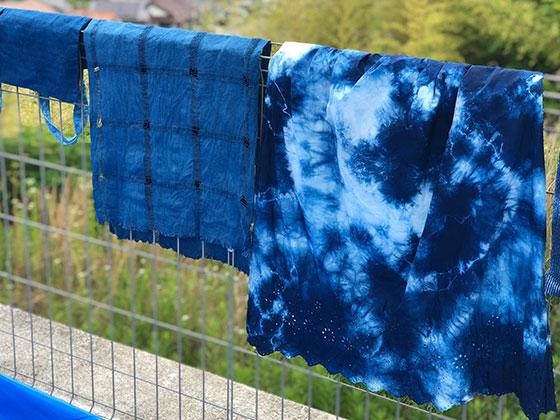 藍染スカート