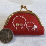 日本刺繍のミニがま口