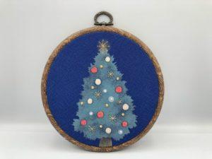 日本刺繍のクリスマスツリー