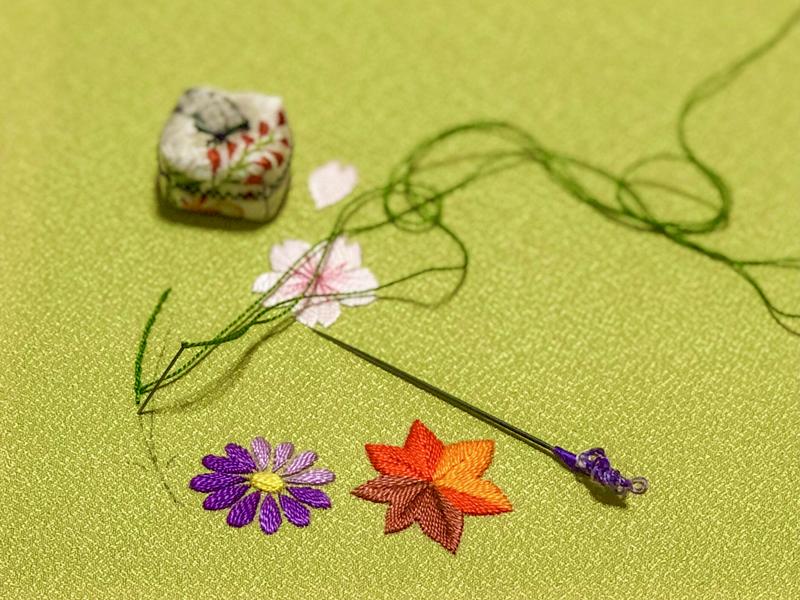 吹寄せの日本刺繍